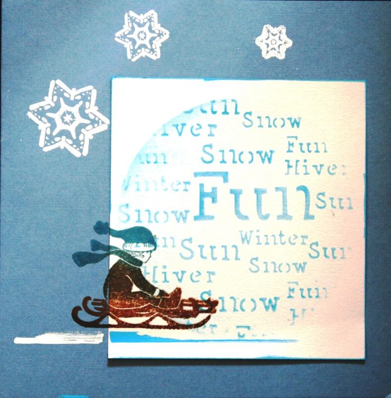 carte hivernale fête d'hiver